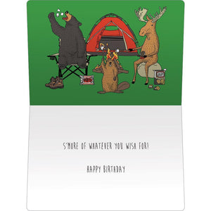 "Smore Camping Birthday ECOnote 4""x6"" Greeting Card"