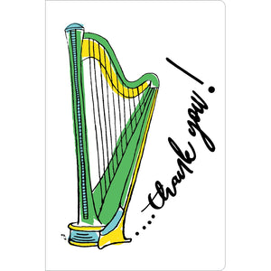 "Thank You Harp Thank You ECOnote 4""x6"" Greeting Card 8 pack"