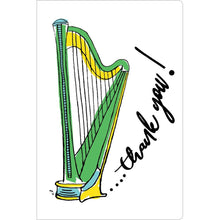 "Load image into Gallery viewer, Thank You Harp Thank You ECOnote 4""x6"" Greeting Card"