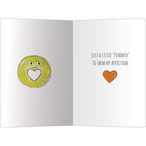 "Olive You Love ECOnote 4""x6"" Greeting Card"