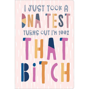 "That Bitch Birthday ECOnote 4""x6"" Greeting Card 8 pack"