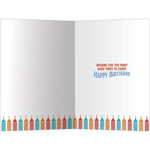"Party Candles Birthday ECOnote 4""x6"" Greeting Card"