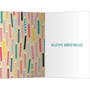 "On Fire Birthday ECOnote 4""x6"" Greeting Card"