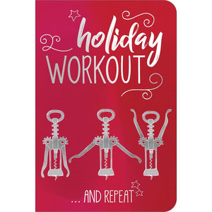 "Holiday Workout ECOnote 4""x6"" Greeting Card 8 pack"