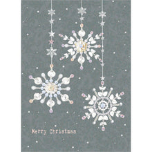 Load image into Gallery viewer, Silver And Gold Christmas 10 ct Christmas Greeting Card Set