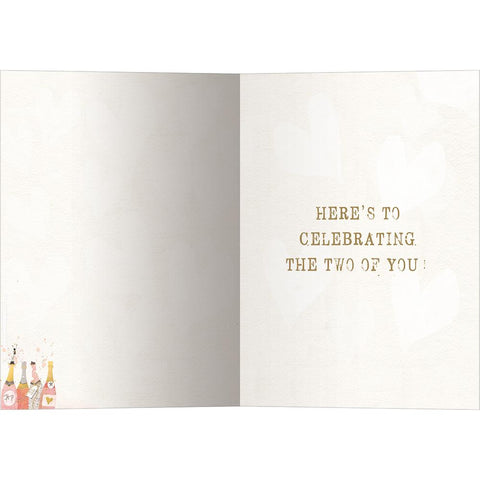 Send This Champagne Wishes Anniversary Card