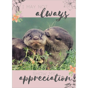 Send This Appreciation Otters Mother's Day Greeting Card