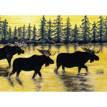 Load image into Gallery viewer, Sunset Moose All Occasion Greeting Card
