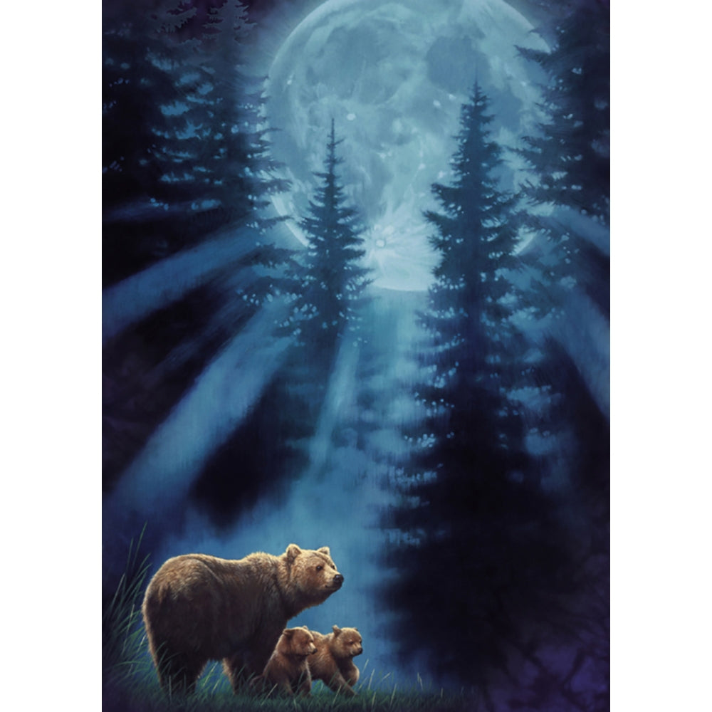 Bears In Moonlight All Occasion Greeting Card