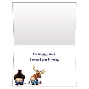 Full Moon Birthday Greeting Card