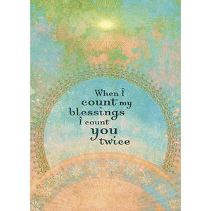 When I Count My Blessings All Occasion Greeting Card