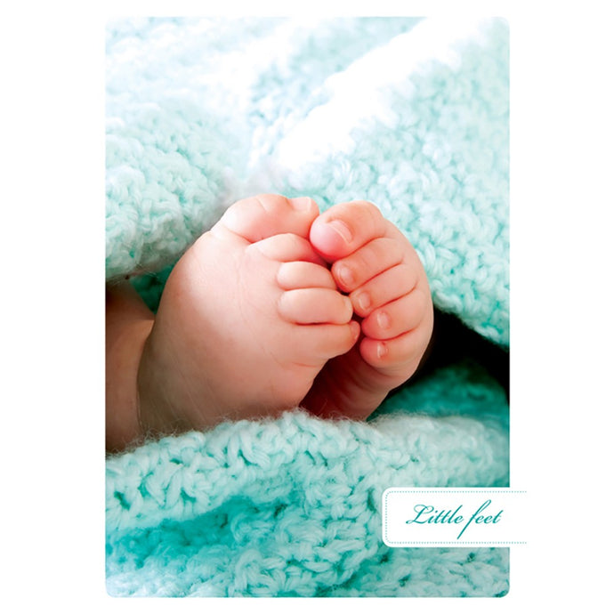 Big Feat New Baby Greeting Card