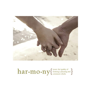 Harmony Wedding Greeting Card