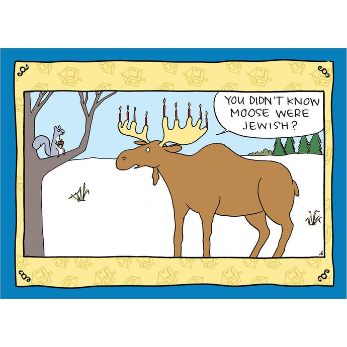 Jewish Moose Hanukkah Greeting Card