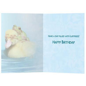 Duck Duck Frog Birthday Greeting Card