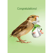 Load image into Gallery viewer, How Tweet New Baby Greeting Card