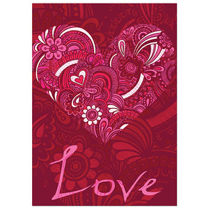 With You L Valentine's Day Valentine's Day Greeting Card
