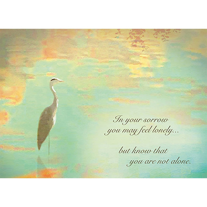 The Heron Waits Sympathy Greeting Card
