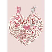 Load image into Gallery viewer, Lovebirds Wedding Greeting Card