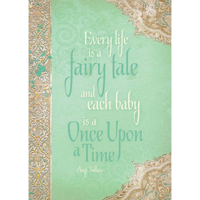 Fairy Tale Baby New Baby Greeting Card