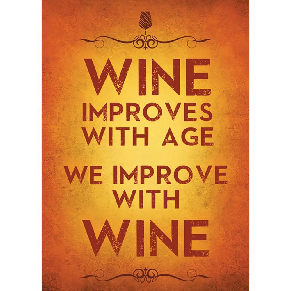 Improved With Wine Birthday Greeting Card