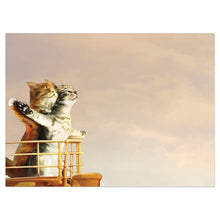 Load image into Gallery viewer, Cat Titanic Anniversary Greeting Card
