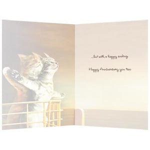 Cat Titanic Anniversary Greeting Card
