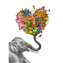 Load image into Gallery viewer, Love Elephant Love Greeting Card