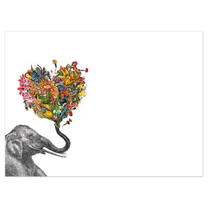 Love Elephant Love Greeting Card