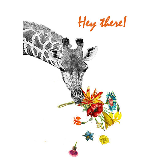 Checking In Giraffe Support Greeting Card