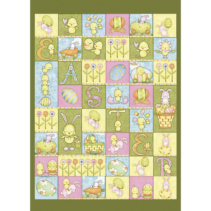 Easter Quilt Easter Greeting Card