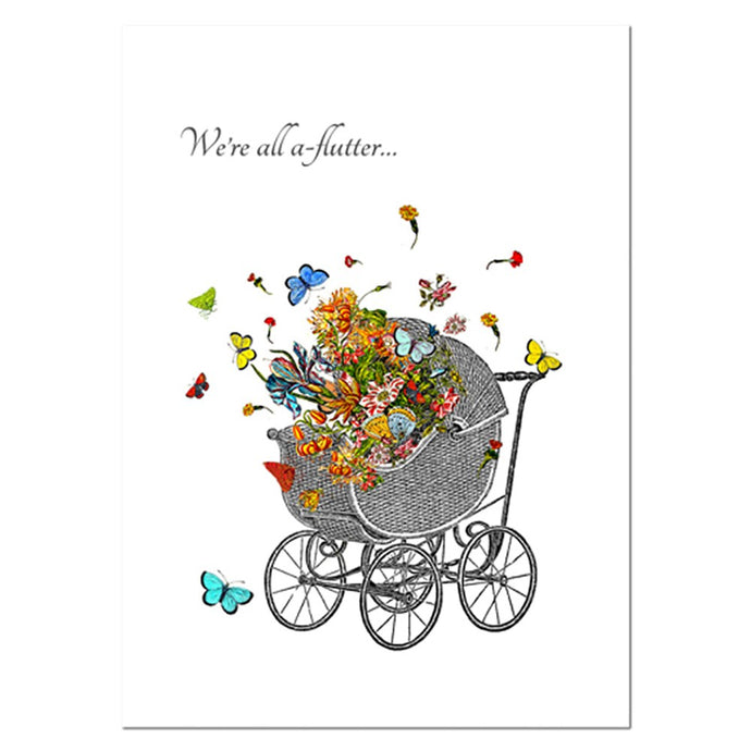 We're A-Flutter New Baby Greeting Card