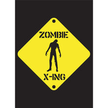 Load image into Gallery viewer, Zombie Crossing Halloween Greeting Card