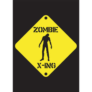 Zombie Crossing Halloween Greeting Card