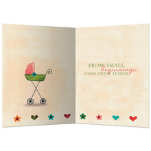 Load image into Gallery viewer, Small Beginnings New Baby Greeting Card