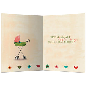 Small Beginnings New Baby Greeting Card