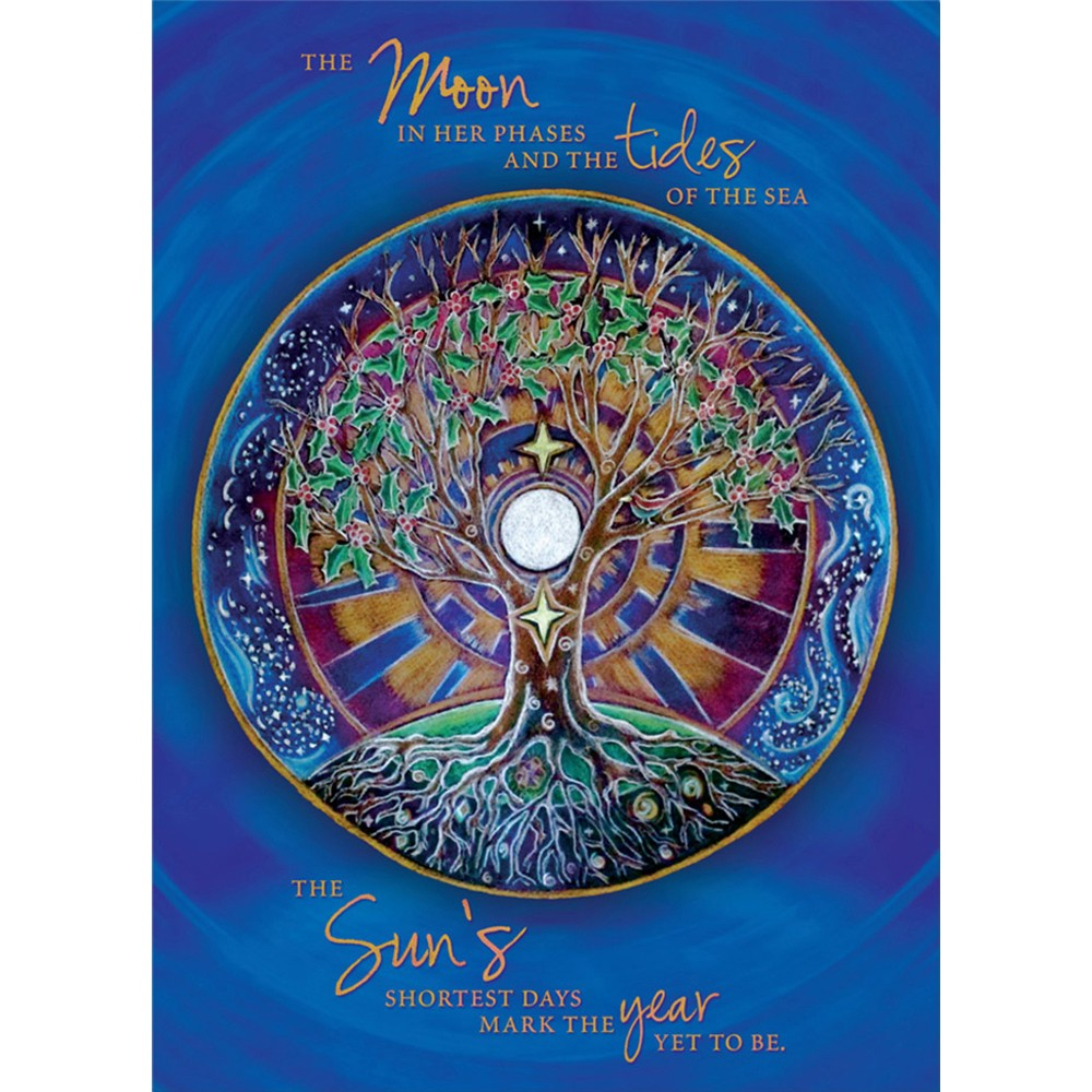 Winter Solstice Mandala  Solstice Greeting Card