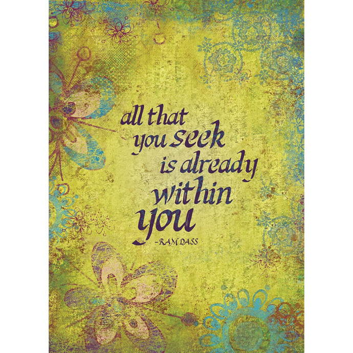 Within You Encouragement Greeting Card