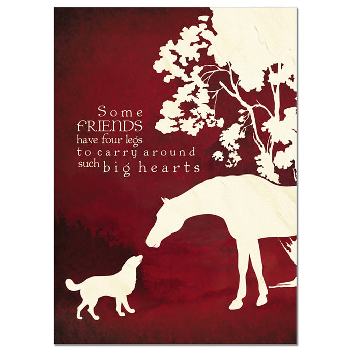 Four Legged Friends Pet Sympathy Greeting Card