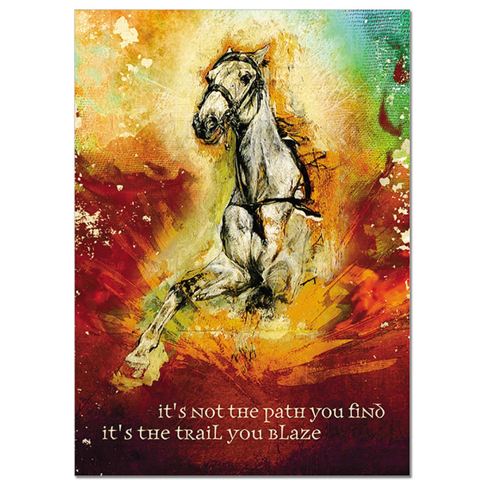 Trail You Blaze Encouragement Greeting Card