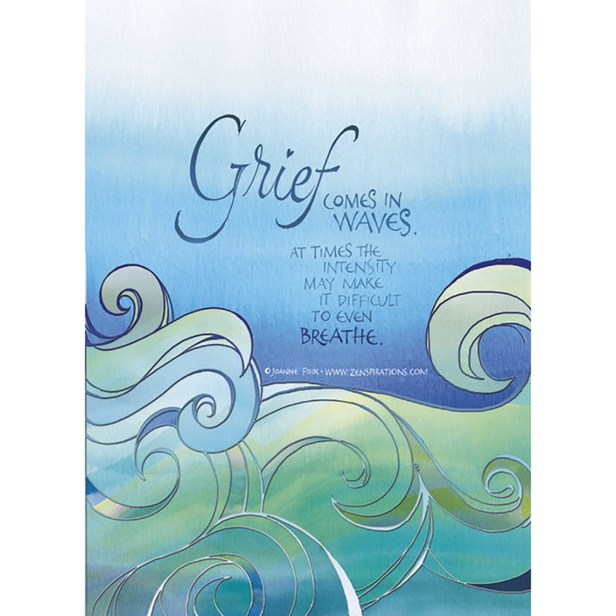 In Waves Sympathy Greeting Card