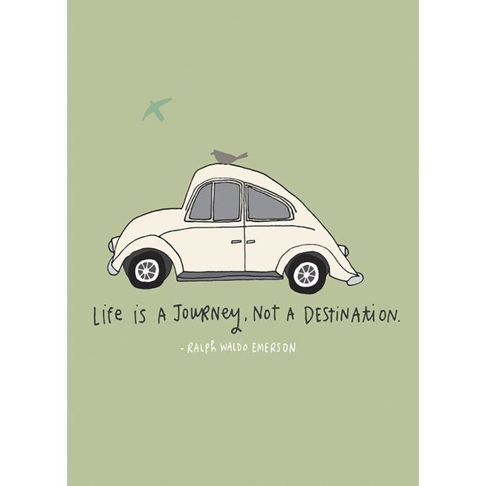 Life Journey Anniversary Greeting Card