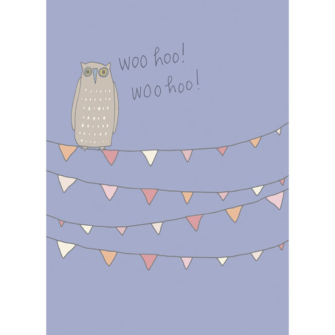 Woo Hoo Owl Congratulations Greeting Card