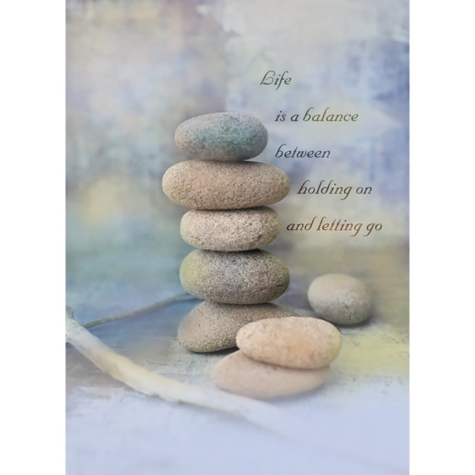 Life Is A Balance Support Greeting Card