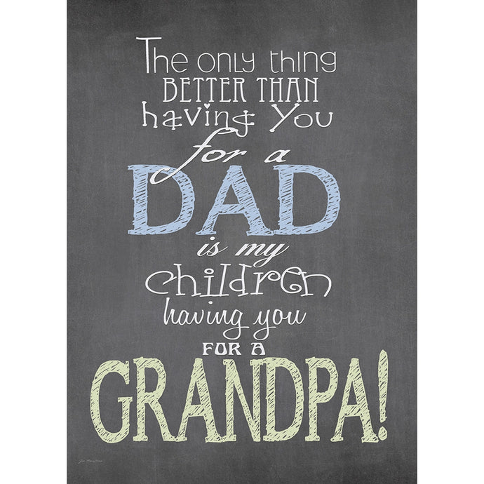 Nothing Better Grandpa Father's Day Greeting Card