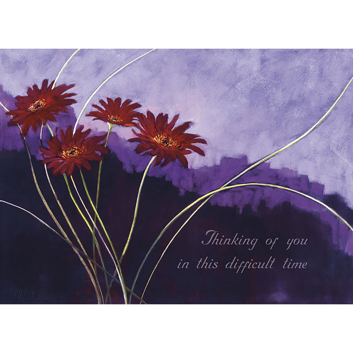 Sympathy In Lavender Sympathy Greeting Card