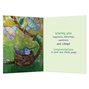 Little Nestling New Baby Greeting Card