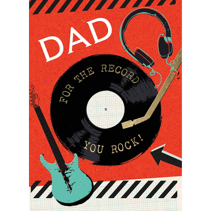 For The Record Father's Day Greeting Card
