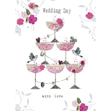 Load image into Gallery viewer, Champagne Piled High Wedding Greeting Card