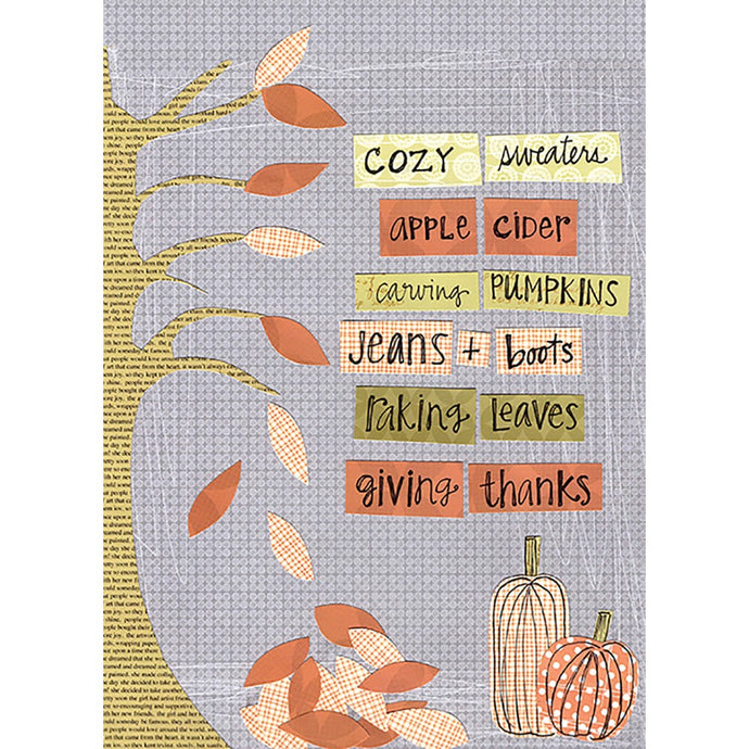 Cozy Fall Fall & Thanksgiving Greeting Card